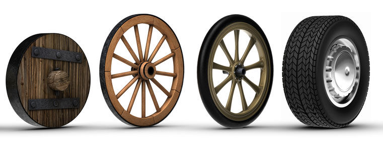 A wheel to a tire to rubber mulch…