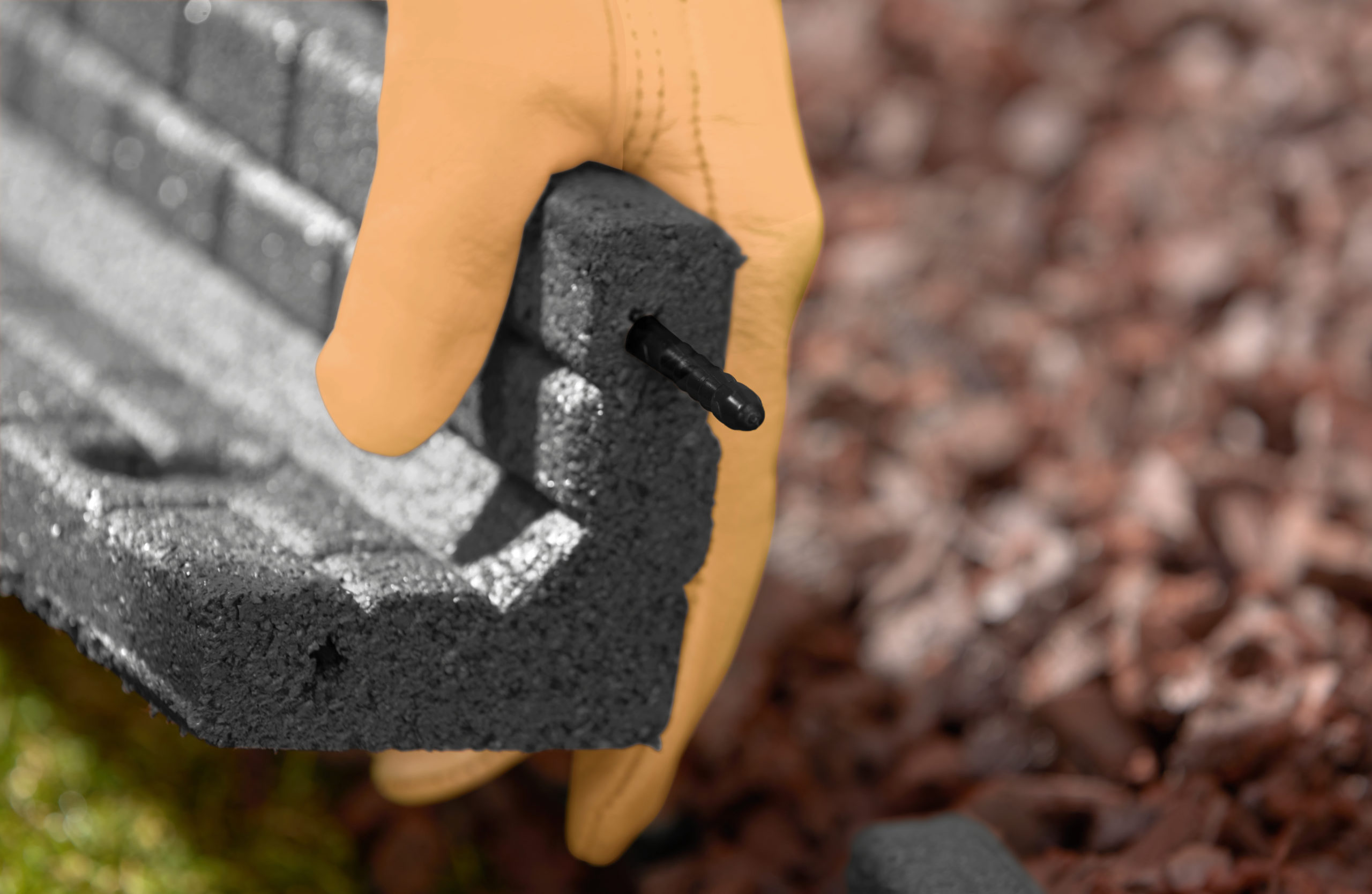 Black Brickface Edging Installations