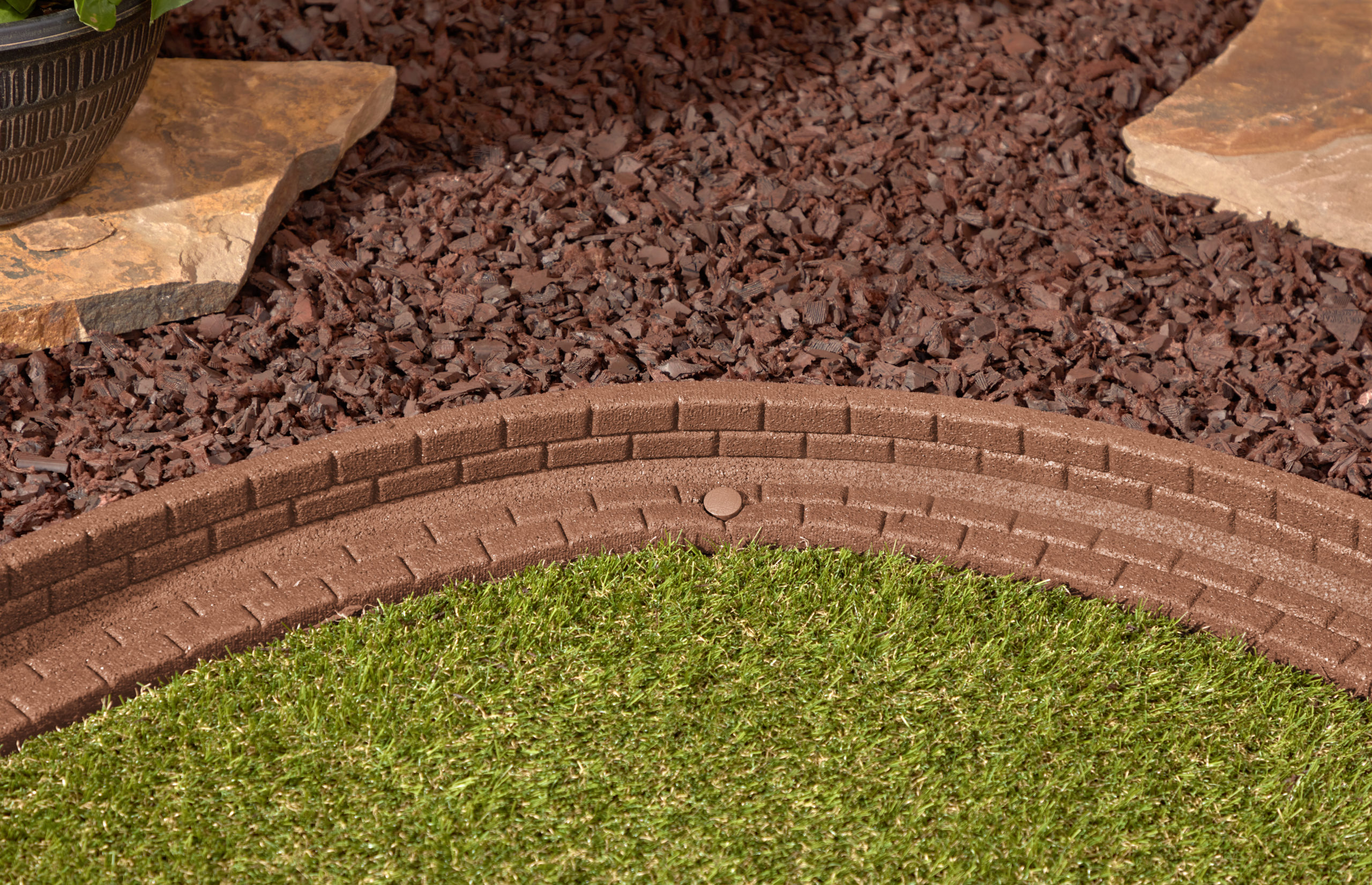 Brown Brickface Edging