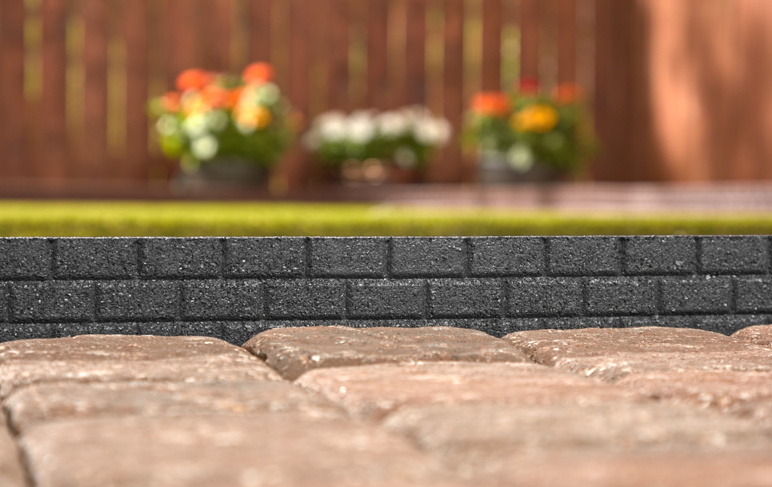 Black Brickface Edging